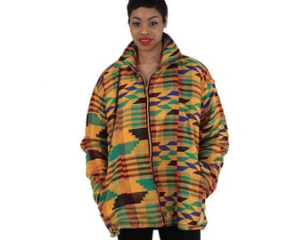 Africa Traditional African-Made Kente Jacket