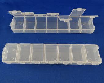 Set of 2 storage boxes 7 boxes with lid-boit001