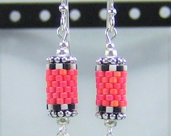 HE290, Peyote Stitch 'Berry-Licious' Earrings