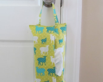 Hanging Tissue Box Cover For Skinny Kleenex/Sheep