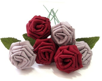 Lovely Red Grey Rose Bouquet
