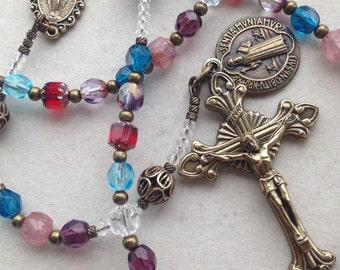 Mother's Birthstone Keepsake Rosary