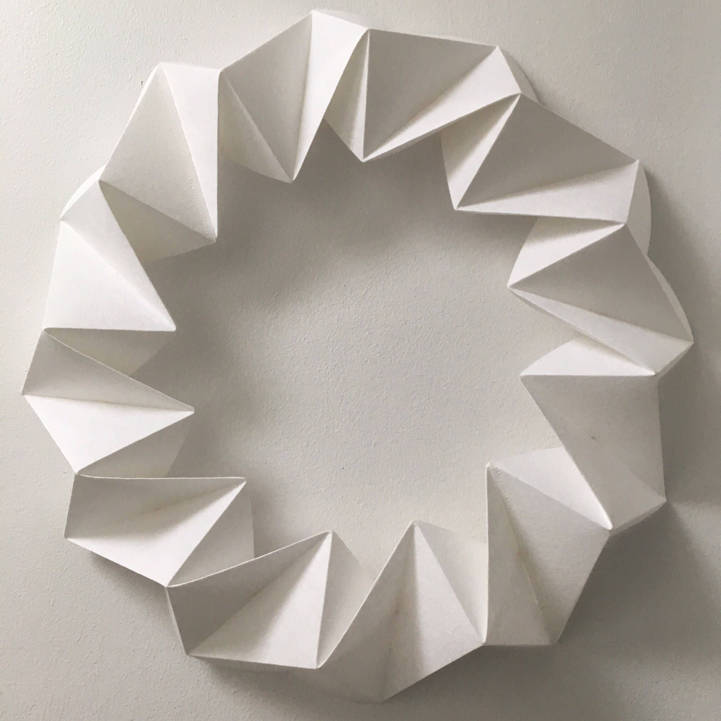 White geometric origami modern christmas door wreath chunky - photo#43
