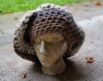 Hippie Crochet Oversized Dread Tam Hipster Slouch Hat Cap Beanie Acrylic Wool