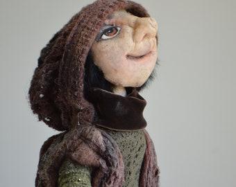 Follow The Shadow. Handmade Art doll. OOAK Art. Home Decoration