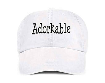 ADORKABLE Cute Funny Humor Baseball Style Cap Hat
