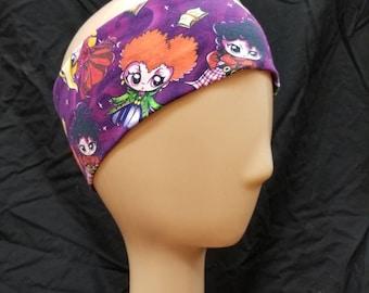Hocus Pocus Sanderson Sisters Print Cotton/Lycra Stretch Knit Headband