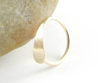 Cartilage Hoop Earring, 14K Gold Filled, 20 Gauge Hoop, Hammered Nose Ring, Helix Piercing Hoop, Tragus Hoop, Rook Hoop, Daith Piercing