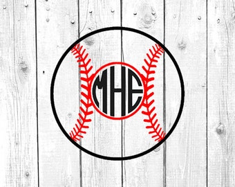 Baseball Decal, Baseball Monogram, Vinyl Decal, Yeti Decal, Car Decal, Gifts for her, Phone Decal, Laptop Decal, Yeti Cup