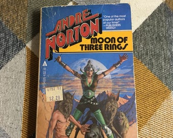 Vintage Moon of Three Rings Andre Norton Paperback Book