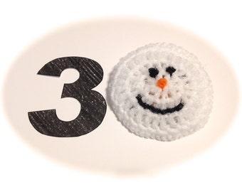 Snowmen Crocheted Nylon Netting Dish Scrubbies-Set Of Thirty