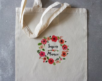 Tote bag flower Granny