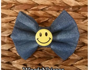 Happy Denim Bow Tie