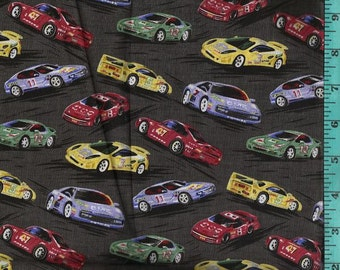 Race Cars, Fabric Quilting Crafting Home Decor