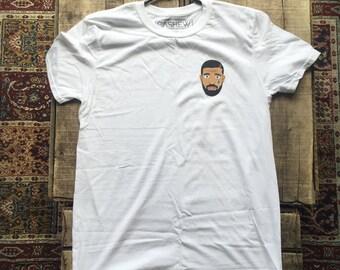 Sad Drake White T-Shirt , Drake, Hip Hop, Toronto, Crying Drake, Tee Shirt