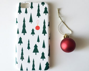 Christmas iPhone X case / iPhone 8 / iPhone 7 / festive iPhone SE case / pines iPhone 6S case / bauble iPhone 6 case / iPhone 5/5S