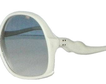 1980s Vintage White Sunglasses Never Worn