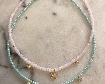 Star, CZ & Crystal Necklace