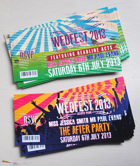 Awesome Concert Ticket Wedding Invitations Images - Styles & Ideas ...