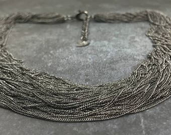 16 inch Multi Strand Chain Necklace with Extender Chain Jewelry Supply            by  MAKUstudio