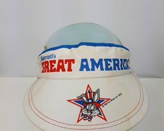 Vintage Theme Park Sun Visor Marriott's Great America Bugs Bunny 1970's