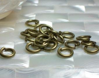 10pcs 10mm OPEN 13 gauge Heavy Duty Antique Brass Plated Steel Jump Rings Jewelry/Craft Supplies Jewellery Hardware