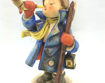 M. I. Hummel by Goebel, Hear Ye, Hear Ye Figurine 15/I Trademark 5 1972-1978 Boy With Horn Bugle