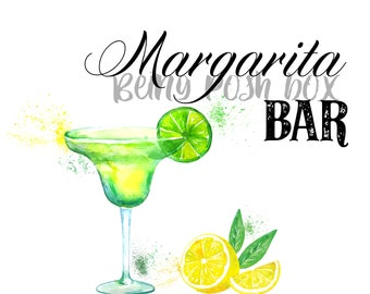 Margarita Bar Sign- White