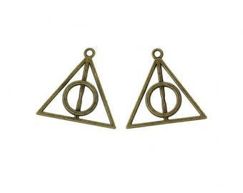 10 Breloques Harry Potter Les Reliques de la Mort Bronze