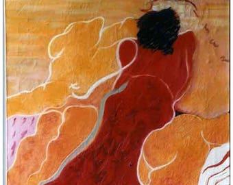 Tagliazucchi Roberto,  Original  oil on canvas THE BEACH