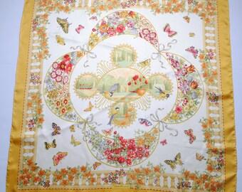 vintage Salvatore Ferragamo authentic silk scarf collection shawl