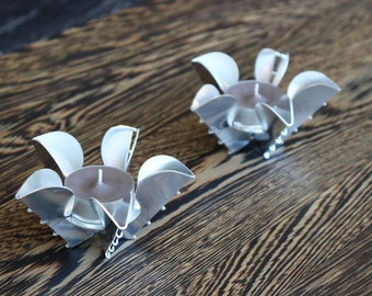 Set of two Origami Tea Light Holders
