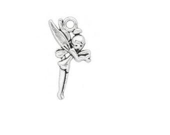 SET of 3 Silver fairy (A45) pendant charm