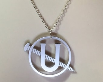 "GHOSTBUSTER 3 HOLTZMANN inspired ""Screw you"" acrylic necklace"