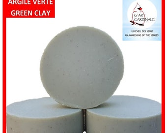 """""""Soft skin"""" Green Clay SOAP helps to cleanse and purify oily skin. help with rheumatism 100gr"""