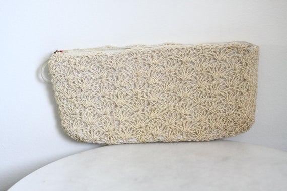 1970s spiral rope clutch // bridal clutch // vintage purse