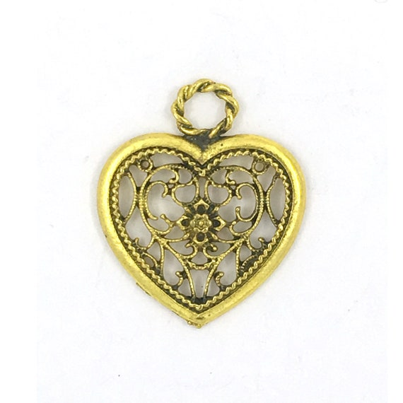 "Great charm - gold color ""Heart"""