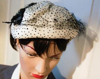 Hat bibi vintage 1940's weight
