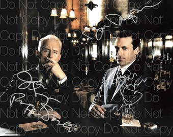 Mad Men signed 2 Jon Hamm John Slattery 8X10 photo picture signed autograph RP