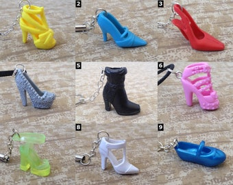 Barbie Shoe Accessories - Necklace, Cell Charm, or Earrings - Barbie Doll Shoes