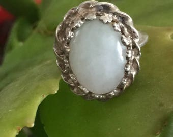 Moonstone Ring, Handcrafted, Vintage, Size 3, Pinky Finger