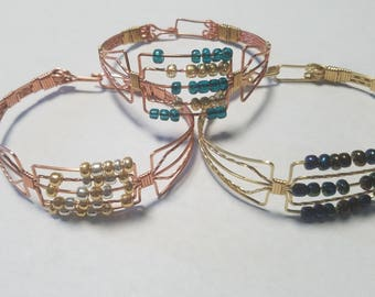 Abacus Copper or Mixed Metal Bracelet