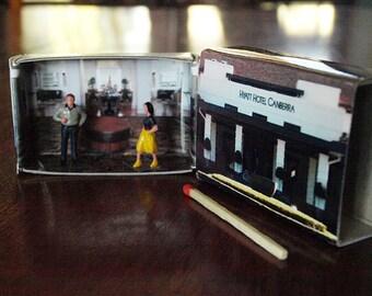 Matchbox Building: Matchbox Miniature of The Hyatt Hotel, Canberra, Australia.