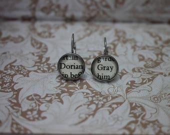 Dorian Gray Earrings ~  Oscar Wilde ~ The Picture Of Dorian Gray ~