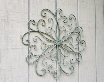 Large Metal Wall Art / Large Wrought Iron Wall Decor / Scrolled Metal Wall  Decor /