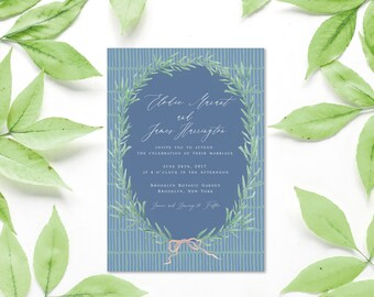 Custom Watercolor Border for Invitations, Menus, Programs for Weddings, Parties, Events