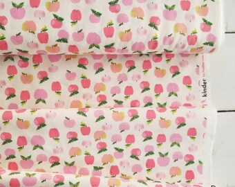 Kinder - Apples(Pink on Cream Background) - Heather Ross - Windham Fabrics