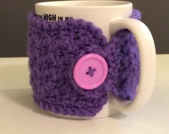 Large mugs crochet mug cozy, tea gift, coffee gift, office gift, crochet cup cozy, coffee cup sleeve, teachers gift, mug warmer