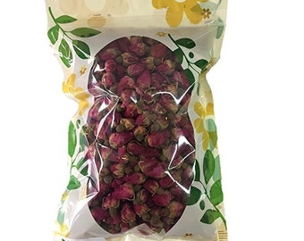 Premium Dried Red Rose Buds, 100% Natural, Food Grade Herbal Tea