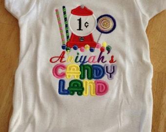 Candyland Birthday shirt/Onsie